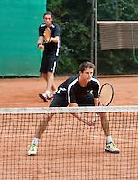 2013-08-17, Netherlands, Raalte,  TV Ramele, Tennis, NRTK 2013, National Ranking Tennis Champ,  Sidney de Boer (L) and Daan Maasland<br /> <br /> Photo: Henk Koster