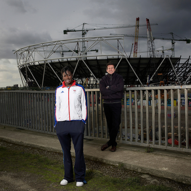 © John Angerson.Olympiad XXX. Worker Portraits.010..Athlete and Chairman..Christine Ohuruogu &.Lord Coe.