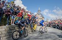 Tom Boonen (BEL/Quick-Step Floors) fires the peloton up the infamous Muur van Geraardsbergen (1100m/7.6%) that is back in the parcours after a 5 year hiatus<br /> <br /> 101th Ronde Van Vlaanderen 2017 (1.UWT)<br /> 1day race: Antwerp › Oudenaarde - BEL (260km)
