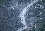 Winter landscape, Chilkat River, Chilkat Valley, Alaska
