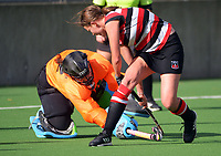 Counties Manukau v South Canterbury. 2021 National Women's Under-18 Hockey Tournament day four at National Hockey Stadium in Wellington, New Zealand on Wednesday, 14 July 2021. Photo: Dave Lintott / lintottphoto.co.nz https://bwmedia.photoshelter.com/gallery-collection/Under-18-Hockey-Nationals-2021/C0000T49v1kln8qk