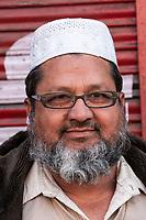 India, Dehradun.  Bearded Middle-aged Indian Man.
