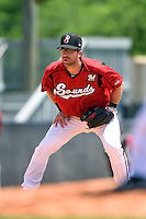 Nashville Sounds third baseman Taylor Green (3) during a game against the Omaha Storm Chasers on May 20, 2014 at Herschel Greer Stadium in Nashville, Tennessee.  Omaha defeated Nashville 4-1.  (Mike Janes/Four Seam Images)