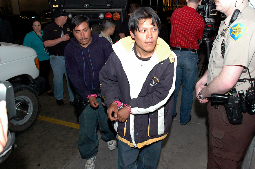 Undocumented Immigrants at the Sheriff's 4th Street Jail in Phoenix, AZ..Photo by AJ Alexander