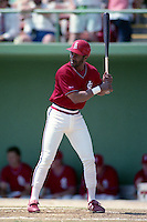 St. Louis Cardinals Ozzie Smith during spring training circa 1991 at Al Lang Stadium in St Petersburg, Florida.  (MJA/Four Seam Images)