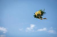 Yellow Jersey podium flowers flyby <br /> <br /> Stage 4: La Baule > Sarzeau (192km)<br /> <br /> 105th Tour de France 2018<br /> ©kramon