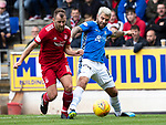 St Johnstone v Aberdeen…15.09.18…   McDiarmid Park     SPFL<br />Richie Foster and Niall McGinn<br />Picture by Graeme Hart. <br />Copyright Perthshire Picture Agency<br />Tel: 01738 623350  Mobile: 07990 594431