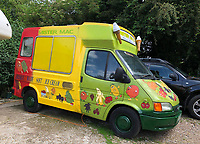 BNPS.co.uk (01202) 558833<br /> Pic: Jemma Lennie/BNPS<br /> <br /> Pictured: John's last van<br /> <br /> A much-loved ice cream seller was given a fitting send off by colleagues who followed his funeral cortege in a convoy of 10 ice cream vans. <br /> <br /> John Lennie spent over 40 years selling ice creams from his trusty van in his local community.<br /> <br /> So dedicated was he to his job that he was still doing his rounds just two days before he died at the age of 79.<br /> <br /> His daughter, Jemma Lennie, led the procession in her father's old colourful truck at his funeral in Wimborne, Dorset.