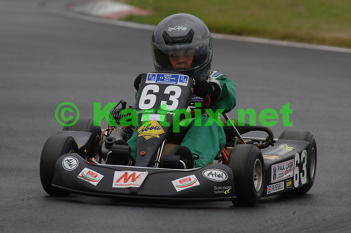 PF International Kart Circuit Brandon Lincolnshire England, a young George Russell practising prior to his junior karting career.