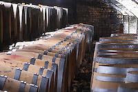 barrel aging cellar dom m picard chateau de ch-m chassagne-montrachet cote de beaune burgundy france