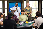 """The Premier of the Turks & Caicos Island, Dr. Michael Misick announces """"Shuffle Up & Deal."""""""
