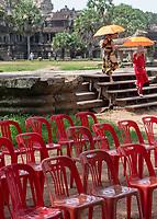 Tourists at Angkor Wat, Cambodia