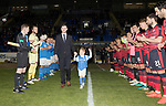 Dave Mackay Testimonial: St Johnstone v Dundee…06.10.17…  McDiarmid Park… <br />Dave Mackay and his son Calum walk onto the pitch through a Guard of Honour by the two teams<br />Picture by Graeme Hart. <br />Copyright Perthshire Picture Agency<br />Tel: 01738 623350  Mobile: 07990 594431