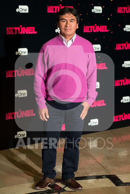 """Abraham Fuya attends to the junket of the film """"Los del Tunel"""" at Palafox Cinema in Madrid, Spain. January 17, 2017. (ALTERPHOTOS/BorjaB.Hojas)"""