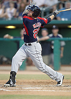 Matt Mangini #22 of the Tacoma Rainiers plays in a Pacific Coast League game against the Tucson Padres  at Kino Stadium on June 4, 2011  in Tucson, Arizona. .Photo by:  Bill Mitchell/Four Seam Images.