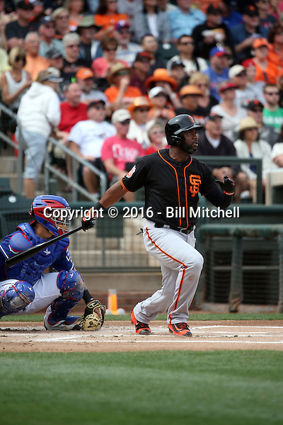 Denard Span - San Francisco Giants 2016 spring training (Bill Mitchell)