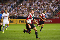 Daniele Bonera (25) of A. C. Milan. Real Madrid defeated A. C. Milan 5-1 during a 2012 Herbalife World Football Challenge match at Yankee Stadium in New York, NY, on August 8, 2012.