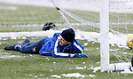 St Johnstone Training…. 15.01.21<br />Murray Davidson pictured during training at McDiarmid Park ahead of tomorrows game against St Mirren<br />Picture by Graeme Hart.<br />Copyright Perthshire Picture Agency<br />Tel: 01738 623350  Mobile: 07990 594431