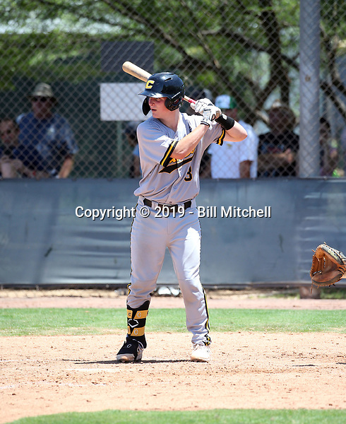Cooper Ingle of Canes Baseball plays in the 2019 Perfect Game 17U World Series on July 25-29, 2019 at the Salt River Fields complex in Scottsdale, Arizona (Bill Mitchell)