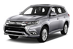 2020 Mitsubishi Outlander-PHEV Instyle 5 Door SUV Angular Front automotive stock photos of front three quarter view