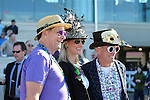 NEW ORLEANS, LA - FEBRUARY 25: It's Mardi Gras weekend in New Orleans and the fans are showing it.  Minesheft Handicap race on Risen Star Stakes Day at Fair Grounds Race Course on February 25, 2017 in New Orleans, Louisiana. (Photo by Jarrod Monaret/Eclipse Sportswire/Getty Images)