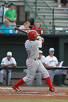 Clearwater Threshers infielder Angelo Mora (18) in action during a game against the Daytona Tortugas at Radiology Associates Field at Jackie Robinson Ballpark on May 9, 2015 in Daytona, Florida. Clearwater defeated Daytona 7-0. (Robert Gurganus/Four Seam Images)
