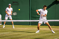 London, England, 3 July, 2019, Tennis,  Wimbledon, Men's doubles Sander Arends (NED) and Matwe Middelkoop (NED) (L)<br /> Photo: Henk Koster/tennisimages.com