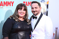 HOLLYWOOD, LOS ANGELES, CA, USA - JUNE 30: Actress Melissa McCarthy and husband/actor Ben Falcone arrive at the Los Angeles Premiere Of Warner Bros. Pictures' 'Tammy' held at the TCL Chinese Theatre on June 30, 2014 in Hollywood, Los Angeles, California, United States. (Photo by Xavier Collin/Celebrity Monitor)