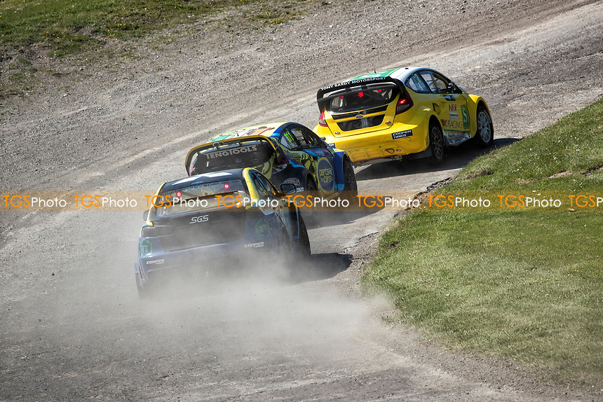 The Supercars into Chessons during the 5 Nations BRX Championship at Lydden Hill Race Circuit on 31st May 2021