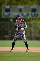Jack Hicks during the WWBA World Championship at the Roger Dean Complex on October 20, 2018 in Jupiter, Florida.  Jack Hicks is a shortstop from Raleigh, North Carolina who attends Leesville Road High School and is committed to Kentucky.  (Mike Janes/Four Seam Images)