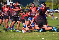 Action from the Horowhenua Kapiti Ramsbotham Cup premier club rugby match between Waikanae and Rahui at Waikanae Domain in Waikanae, New Zealand on Saturday, 17 April 2021. Photo: Dave Lintott / lintottphoto.co.nz