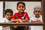 Young local fans enjoy Stage 6 of the 10th Tour of Oman 2019, running 135.5km from Al Mouj Muscat to Matrah Corniche, Oman. 21st February 2019.<br /> Picture: ASO/Kåre Dehlie Thorstad | Cyclefile<br /> All photos usage must carry mandatory copyright credit (© Cyclefile | ASO/Kåre Dehlie Thorstad)