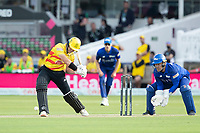 D'Arcy Short, Trent Rockets looks to drive during London Spirit Men vs Trent Rockets Men, The Hundred Cricket at Lord's Cricket Ground on 29th July 2021