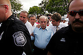 Pinellas Park, Florida.USA.March 24, 2005..The parents, Mary and Bob Schindler of brain damaged Terri Schiavo, enter and leave the Woodside Hospice in Pinellas Park, Florida where Terri is being cared for. The U.S. Supreme Court rejected a plea from the parents of Terri Schiavo to restart her feeding, leaving them nearly out of options and time in the seven-year legal fight for their brain-damaged daughter's life.