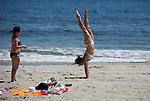 Opening of the beach season at Rockaway beach in NYC