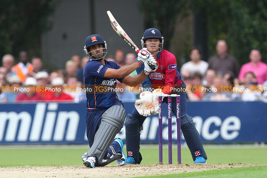 Ravi Bopara hits out for Essex as Sam Billings looks on - Essex Eagles vs Kent Spitfires - NatWest T20 Blast Cricket at Castle Park, Colchester, Essex - 12/07/14 - MANDATORY CREDIT: Gavin Ellis/TGSPHOTO - Self billing applies where appropriate - contact@tgsphoto.co.uk - NO UNPAID USE