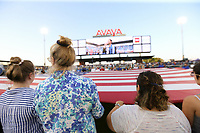 SAN JOSE, CA - AUGUST 24:  National anthem prior to a Major League Soccer (MLS) match between the San Jose Earthquakes and the Vancouver Whitecaps FC  on August 24, 2019 at Avaya Stadium in San Jose, California.