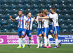 Kilmarnock v St Johnstone…09.04.16  Rugby Park, Kilmarnock<br />Kris Boyd celebrates his goal<br />Picture by Graeme Hart.<br />Copyright Perthshire Picture Agency<br />Tel: 01738 623350  Mobile: 07990 594431