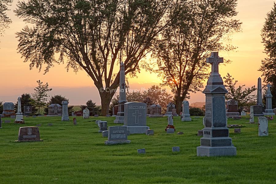 Carlton Cemetery at sunset