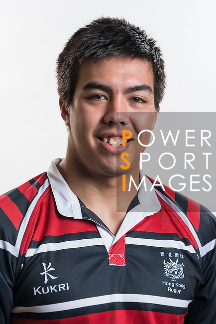 Hong Kong Junior Squad team member Richard Lewis poses during the Official Photo Session Day at King's Park Sports Ground ahead the Junior World Rugby Tournament on 25 March 2014. Photo by Andy Jones / Power Sport Images