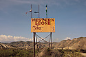 Spain - Andalusia - A billboard signaling Western Leone, a Western-styled movie set built for Once Upon a Time in the West by Sergio Leone.