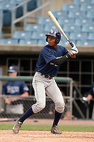 Chris Chatfield (11) of Spoto High School in Riverview, Florida playing for the Tampa Bay Rays scout team during the East Coast Pro Showcase on July 30, 2014 at NBT Bank Stadium in Syracuse, New York.  (Mike Janes/Four Seam Images)
