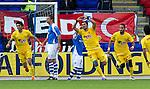 St Johnstone v Eskisehirspor...26.07.12  Europa League Qualifyer.Veysel Sari celebrates his goal.Picture by Graeme Hart..Copyright Perthshire Picture Agency.Tel: 01738 623350  Mobile: 07990 594431
