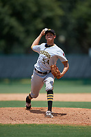 GCL Pirates relief pitcher Jacob Webb (54) delivers a pitch during a game against the GCL Braves on July 27, 2017 at ESPN Wide World of Sports Complex in Kissimmee, Florida.  GCL Braves defeated the GCL Pirates 8-6.  (Mike Janes/Four Seam Images)