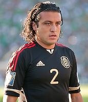 PASADENA, CA – June 25, 2011: Mexico player Hector Reynoso (2)  during the Gold Cup Final match between USA and Mexico at the Rose Bowl in Pasadena, California. Final score USA 2 and Mexico 4.