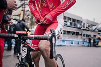 Nicolas Edet (FRA/Cofidis) after finishing<br /> <br /> 76th Paris-Nice 2018<br /> Stage 7: Nice > Valdeblore La Colmiane (175km)
