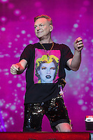 Erasure's Andy Bell performing during Rewind South, The 80s Festival, at Temple Island Meadows, Henley-on-Thames, England on 20 August 2016. Photo by David Horn.