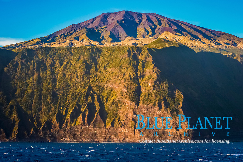 The Island of Tristan Da Cunha. Rare unusual image. South Atlantic Ocean MORE INFO: Tristan Da Cunha is claimed to be the most remote inhabited island in the world, lying 2,816 kilometres (1,750 mi) from the nearest land, South Africa, and 3,360 kilometres (2,088 mi) from South America.