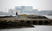 The Wylfa Power Station as seen from Cemlyn Bay, north Wales, UK. Sunday 30 October 2016