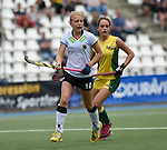 GER - Mannheim, Germany, May 24: During the U16 Girls match between Australia (green) and Germany (white) during the international witsun tournament on May 24, 2015 at Mannheimer HC in Mannheim, Germany. Final score 0-6 (0-3). (Photo by Dirk Markgraf / www.265-images.com) *** Local caption *** Emely Vysoudil #10 of Germany